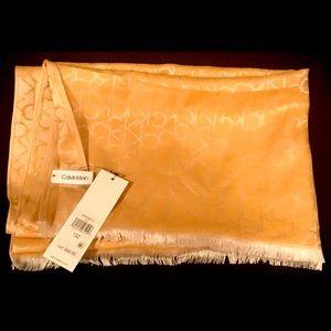 Calvin Klein Viscose Scarf/Wrap Sunflower Yellow